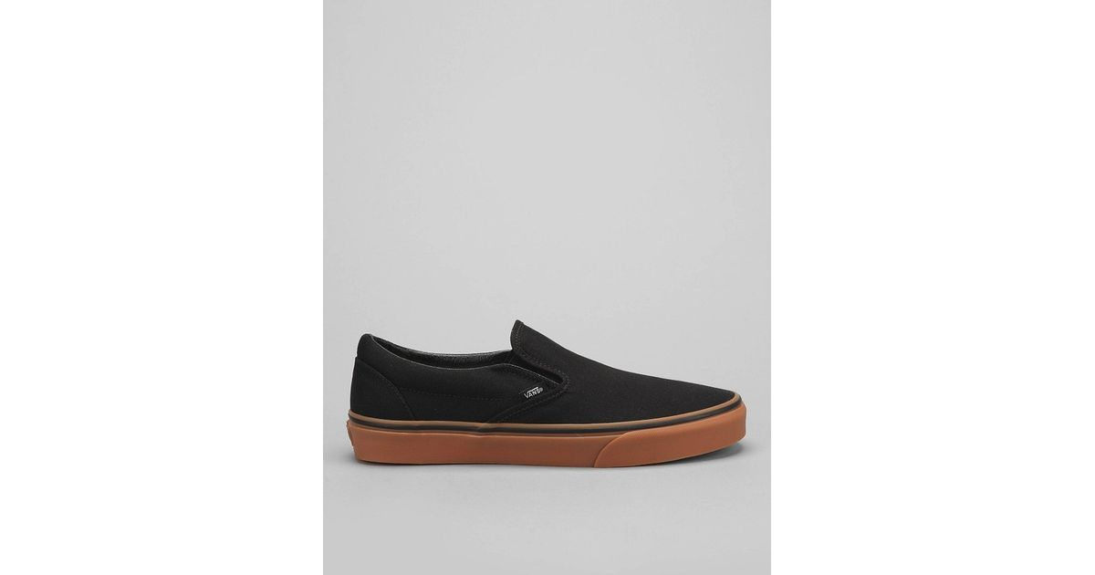 04f2dda4a51 Lyst - Vans Classic Gum-Sole Slip-On Sneaker in Black for Men
