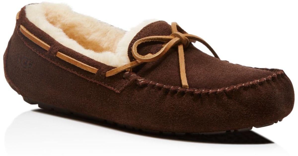 0c44c935e1d UGG - Brown Australia Olsen Suede Moccasin Slippers for Men - Lyst