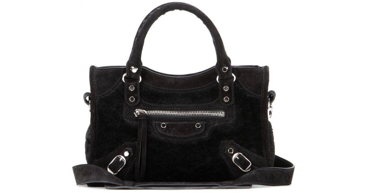 51362262f081 Lyst - Balenciaga Classic Mini City Shoulder Bag in Black