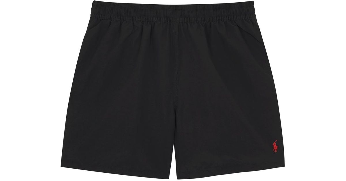 Ralph Lauren Classic Polo Series Black Beach Shorts