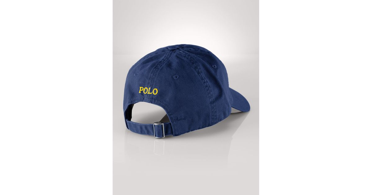 22807d27b9e Lyst - Polo Ralph Lauren Cotton Chino Baseball Cap in Blue for Men
