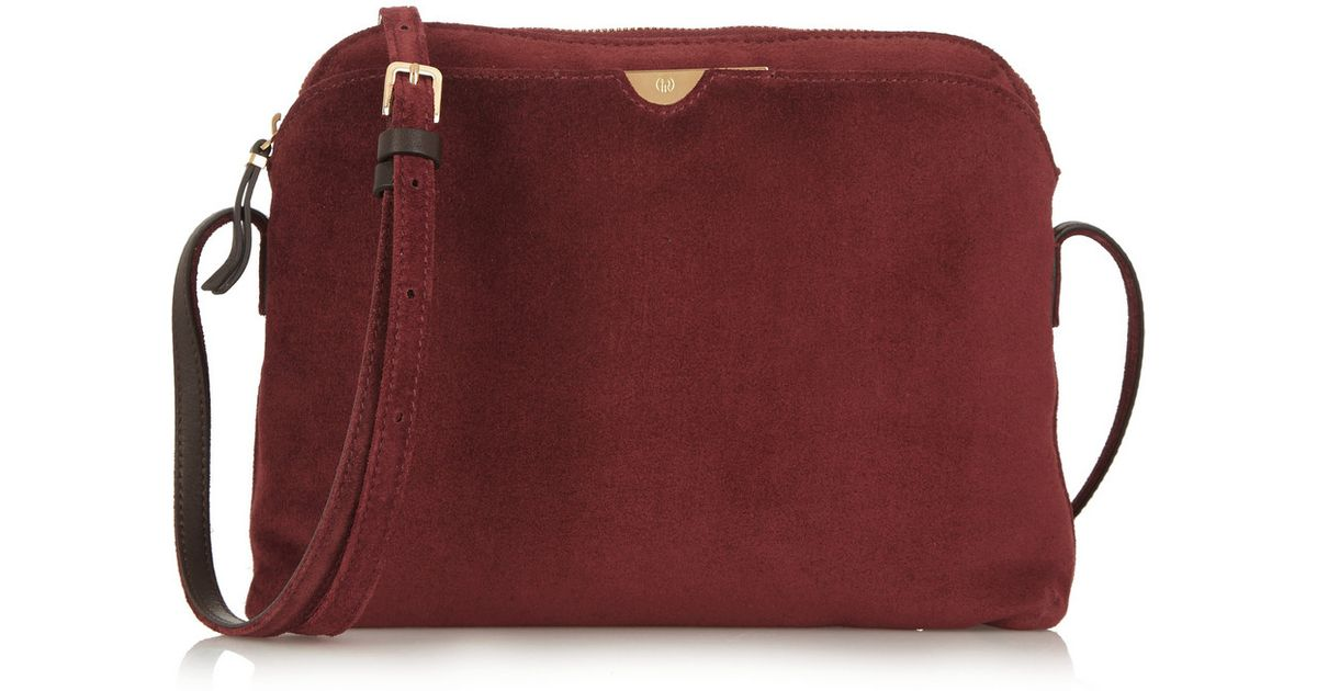 83b817d20 The Row Multi Pouch Suede Shoulder Bag in Red - Lyst