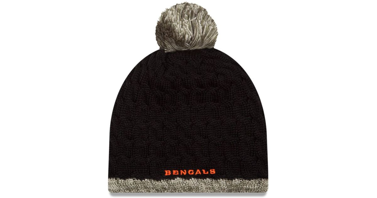 c18b0c266 Lyst - KTZ Women s Cincinnati Bengals Salute To Service Knit Hat in Black  for Men