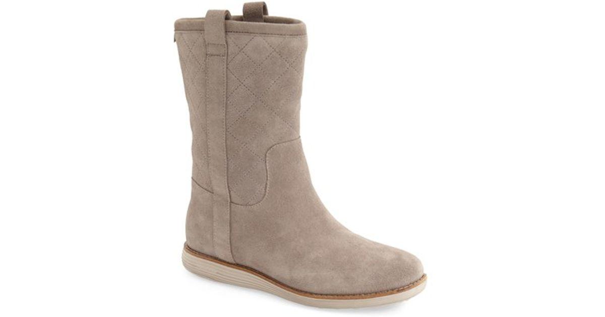 cole haan poper waterproof suede boots in lyst