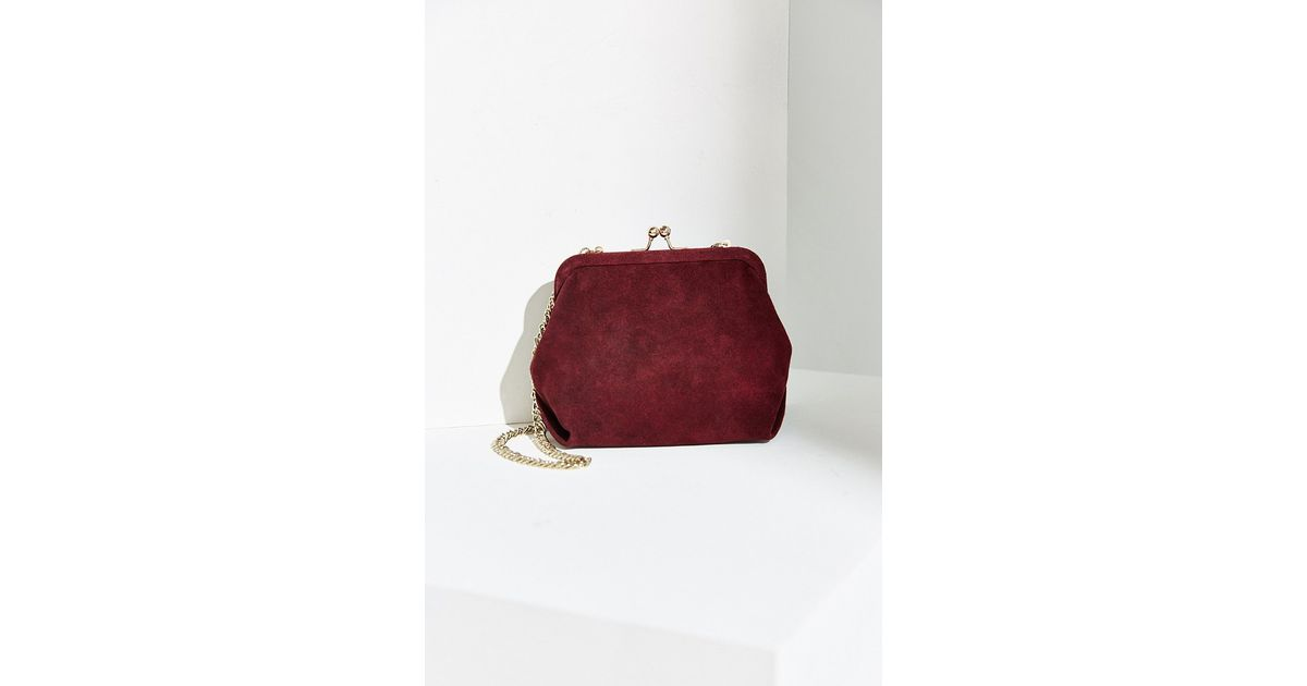 36a09633fb Kimchi Blue Suede Kiss Lock Bag in Red - Lyst