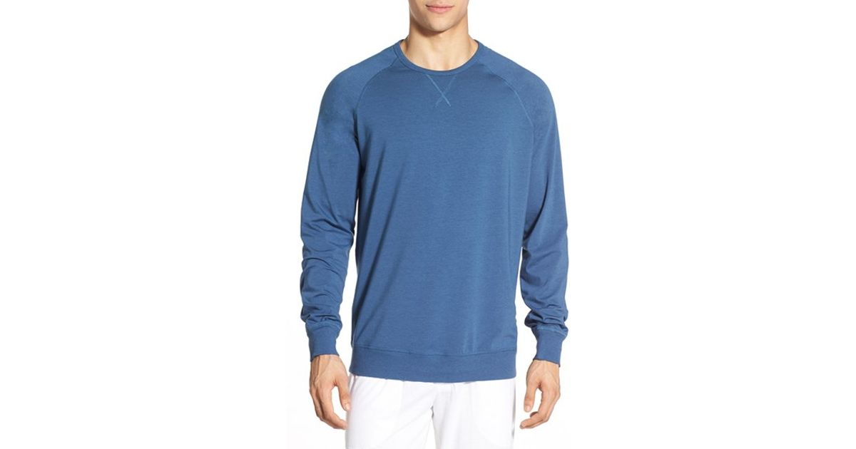 Daniel buchler long sleeve cotton modal t shirt in blue for Modal t shirts mens