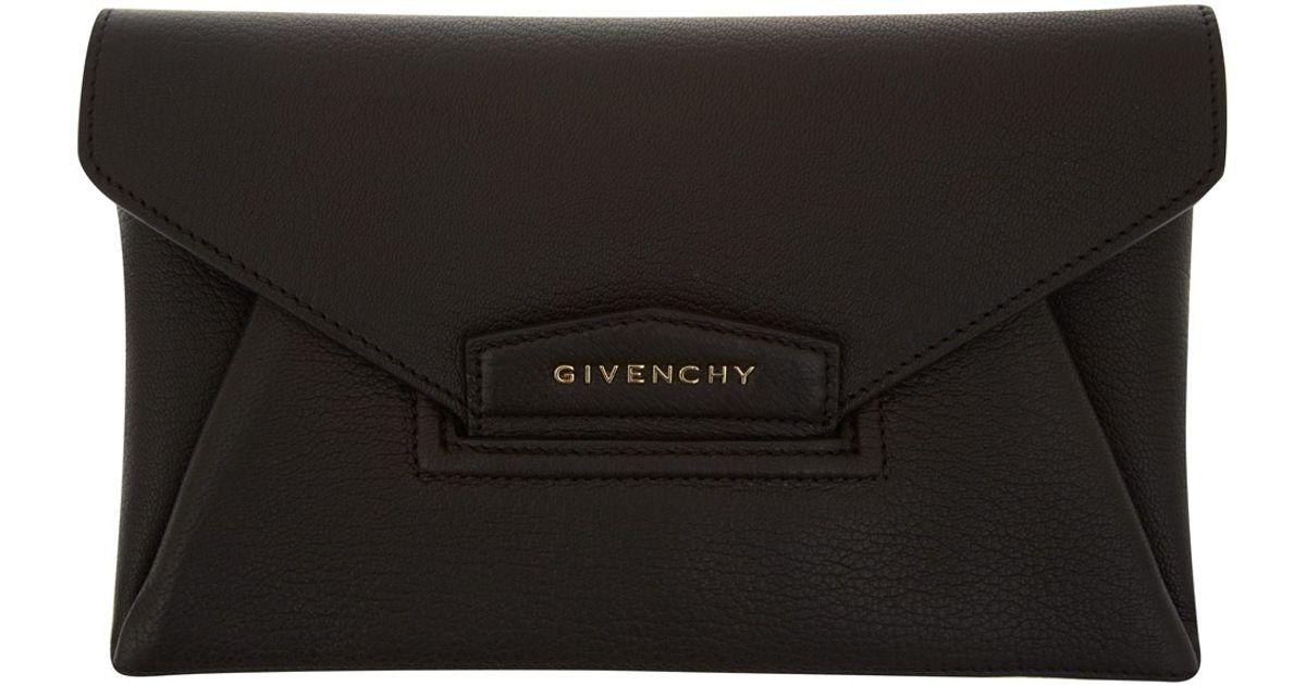 878841fd45 Givenchy Small Antigona Envelope Clutch. GIVENCHY Grained Leather Small  Antigona Envelope Clutch Black 66468