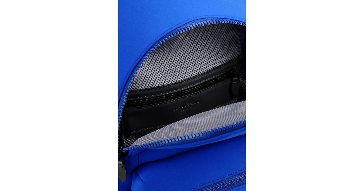 f34e7cc83321 Lyst - Emporio Armani Runway Backpack In Neoprene in Blue for Men