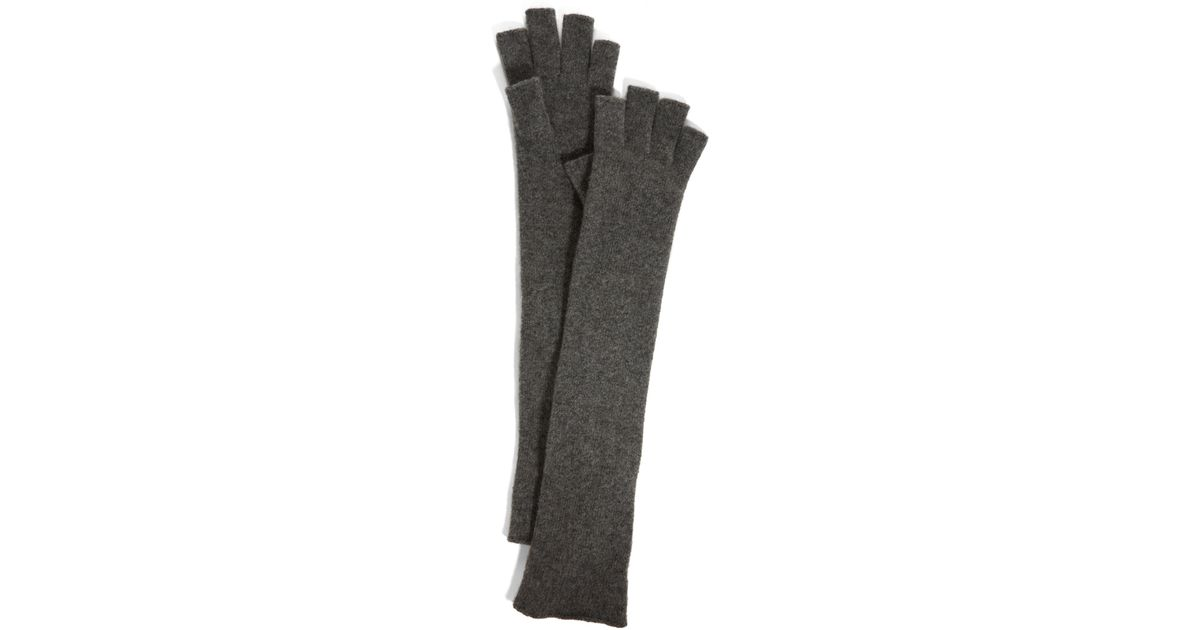 2213458a2 DKNY Long Cashmere Cut Finger Glove in Gray - Lyst