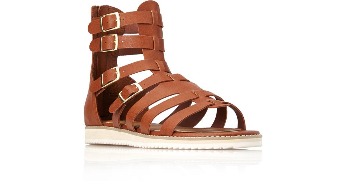 61cddfc962e8 Lyst - Forever 21 Globetrotter Gladiator Sandals in Brown