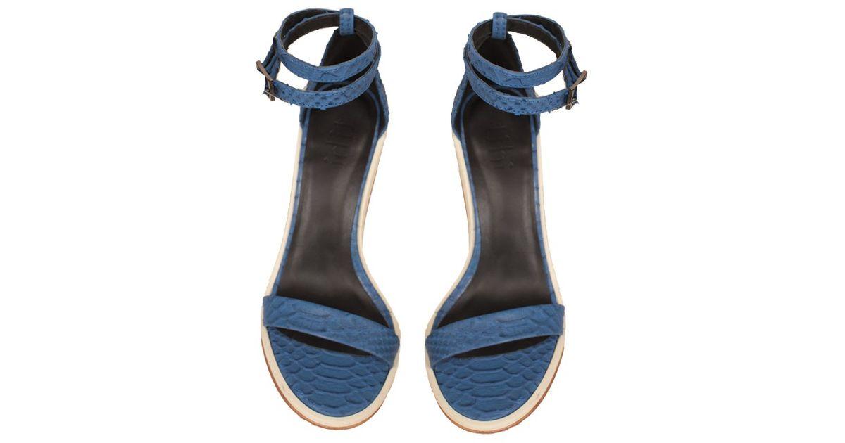 cb91c359184 Lyst - Tibi Amber Sandals in Blue