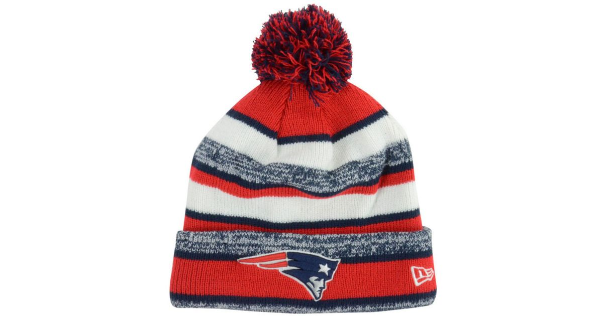 Lyst - KTZ New England Patriots Sport Knit Hat in Red for Men c7113dc15ce7