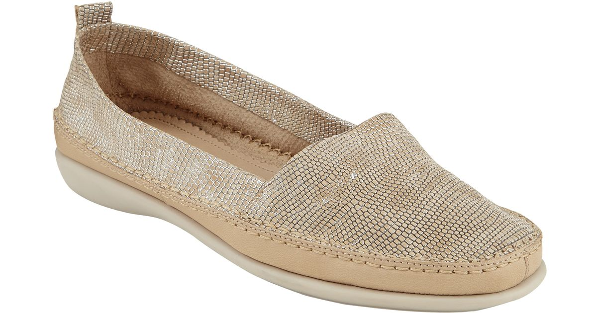 f7a723adf3f09 John Lewis Designed For Comfort Wren Slip On Loafers in Natural - Lyst
