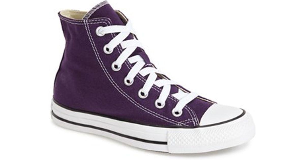 e07e637eab16b4 purchase lyst converse chuck taylor all star high top sneaker in purple  9b7c7 36c1d
