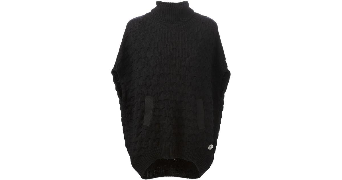 moncler bobble knit poncho