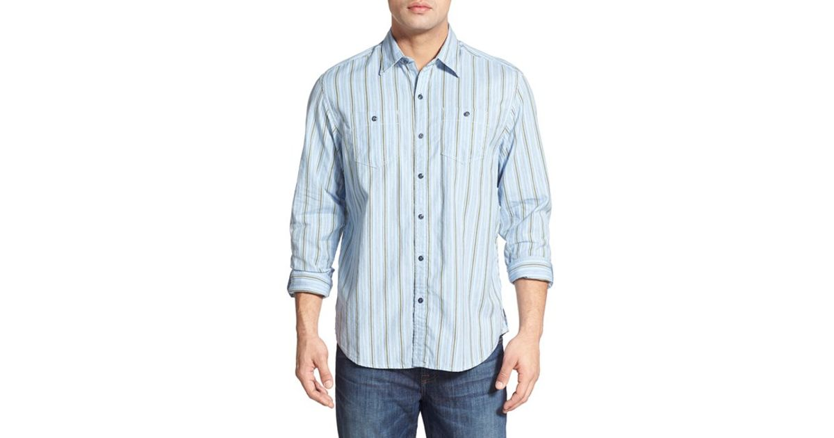 058b622d2a4 Lyst - Tommy Bahama  dingo Bobby  Island Modern Fit Long Sleeve Sport Shirt  in Blue for Men