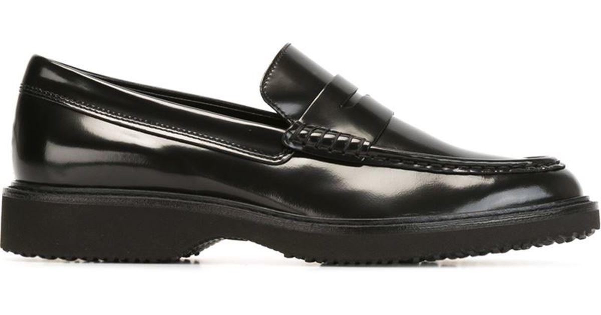 09c1b66b967 Lyst - Hogan Rubber Sole Penny Loafers in Black for Men