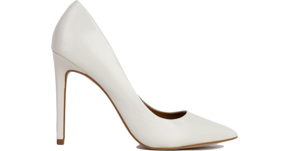 90aa99b37f1 Lyst - Steve Madden Proto Pointed Toe Pumps in White