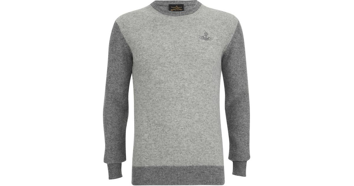68f5267587b Vivienne Westwood Anglomania Men's Classic Round Neck Knitted Jumper in  Gray for Men - Lyst