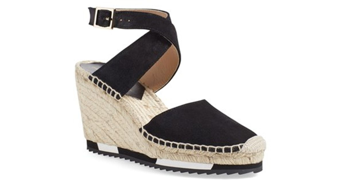 clearance collections buy cheap pay with visa Diane von Furstenberg Patent Leather Espadrille Wedges d5lEZk4Bg3