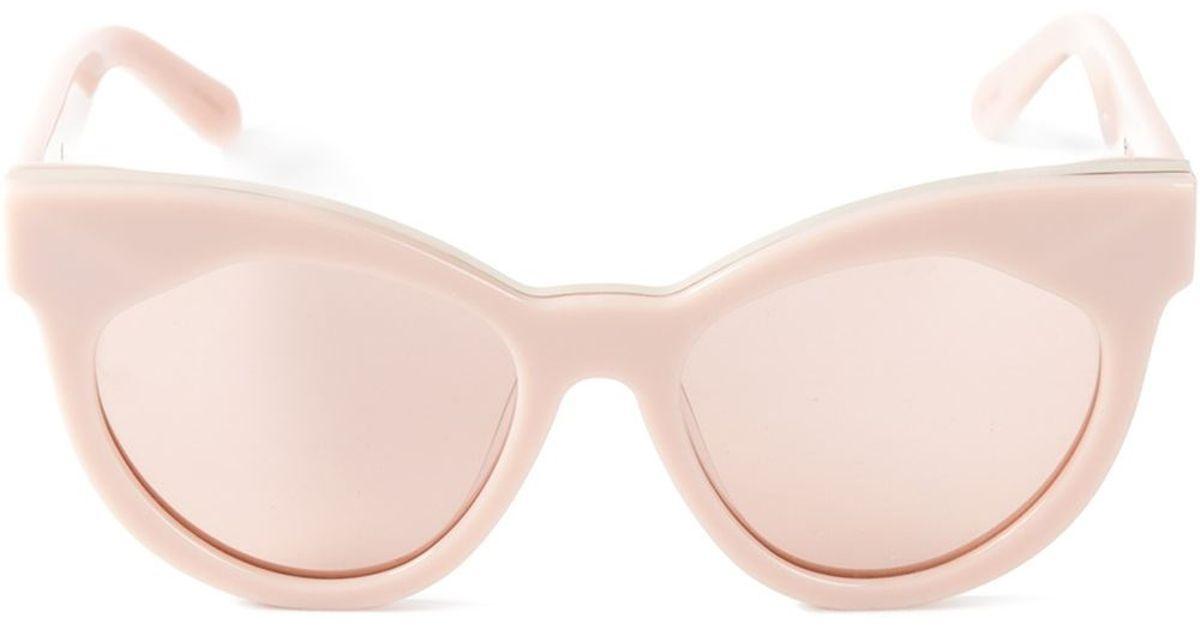 0aa95fee656 Karen Walker 'Starburst' Sunglasses in Pink - Lyst