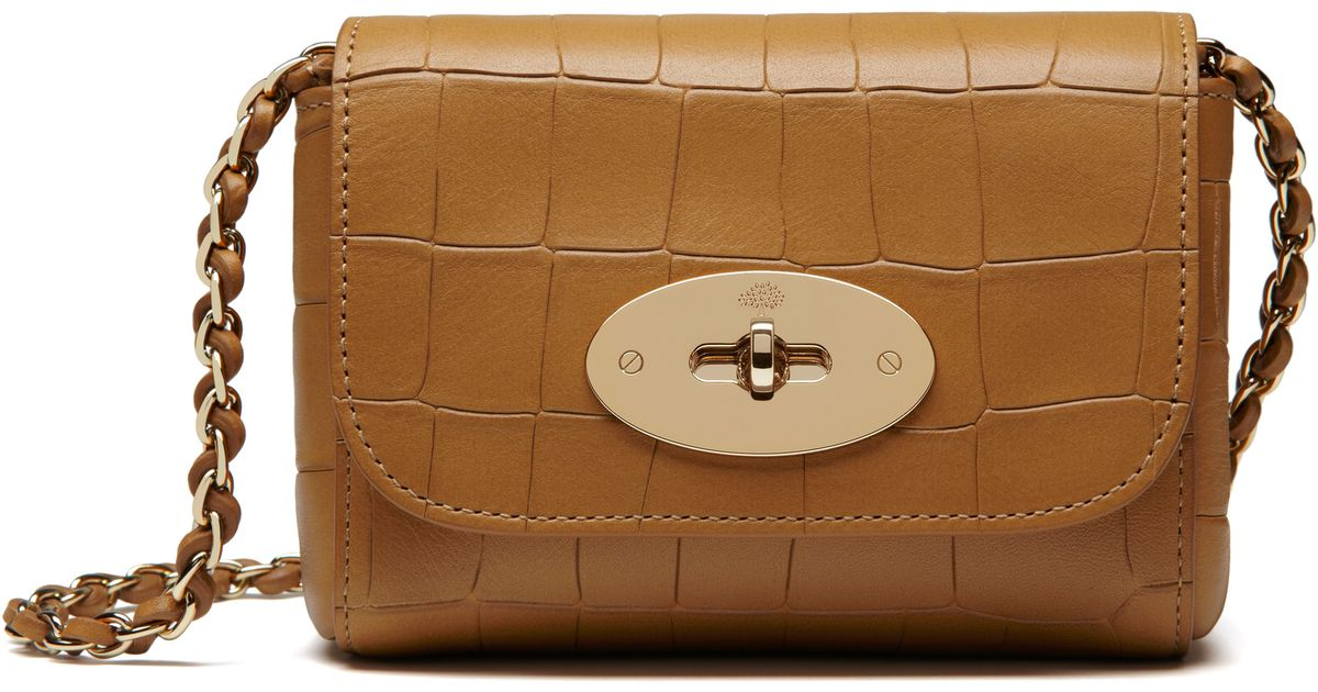 Mulberry Mini Lily Shoulder Bag in Brown - Lyst e931cdcc98ccf