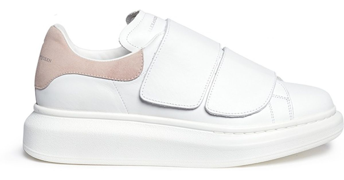 e783df16b5b6 Lyst - Alexander McQueen Chunky Outsole Leather Sneakers in White