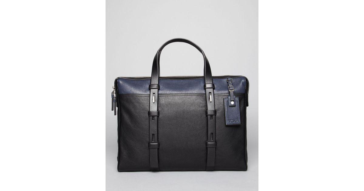 ea31cd29fff1 Tumi Harrison Leather Brief Bloomingdales Exclusive in Black for Men - Lyst