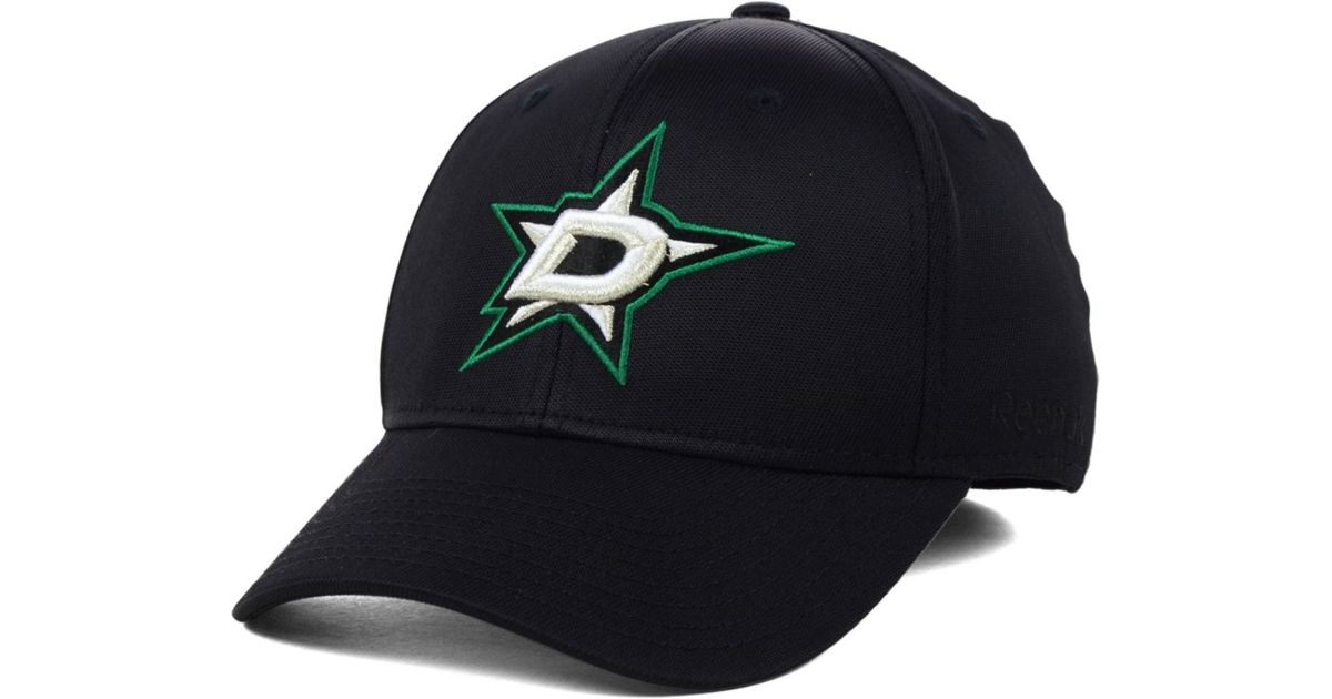 55c80ea8098 Lyst - Reebok Dallas Stars Nhl Hat Trick 2.0 Cap in Black for Men