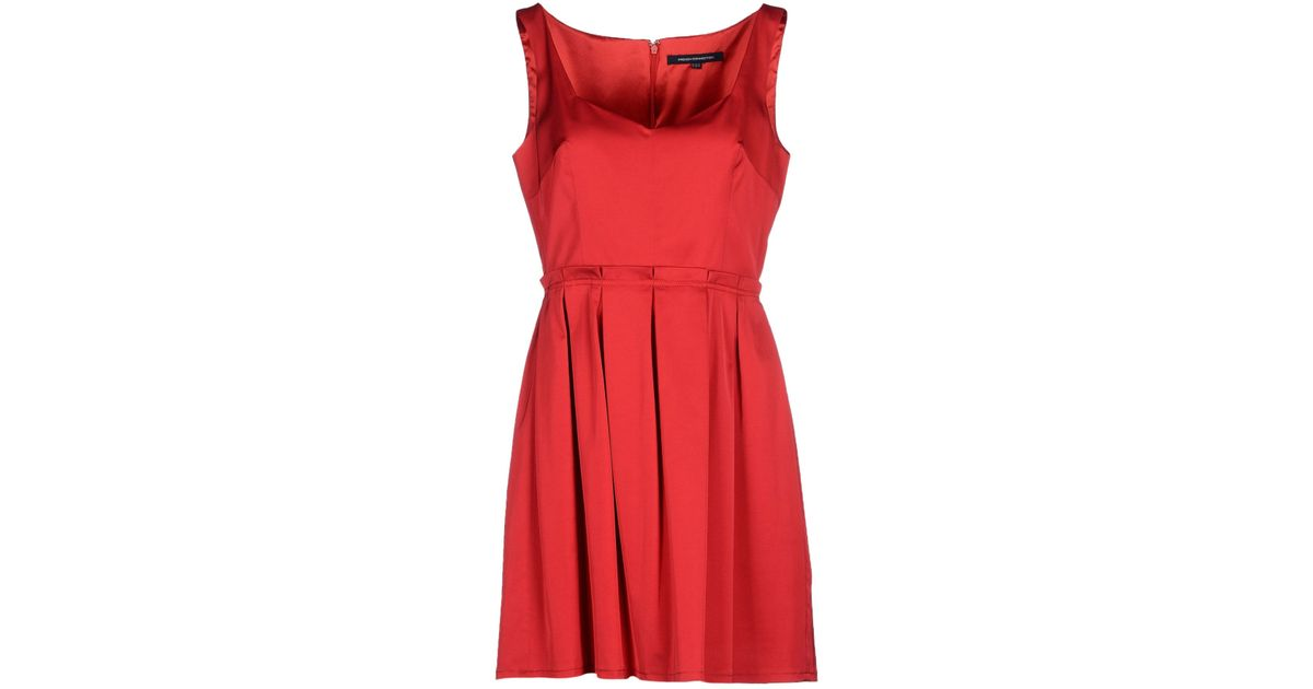 7638a6b6730 Lyst French Connection Short Dress In Red