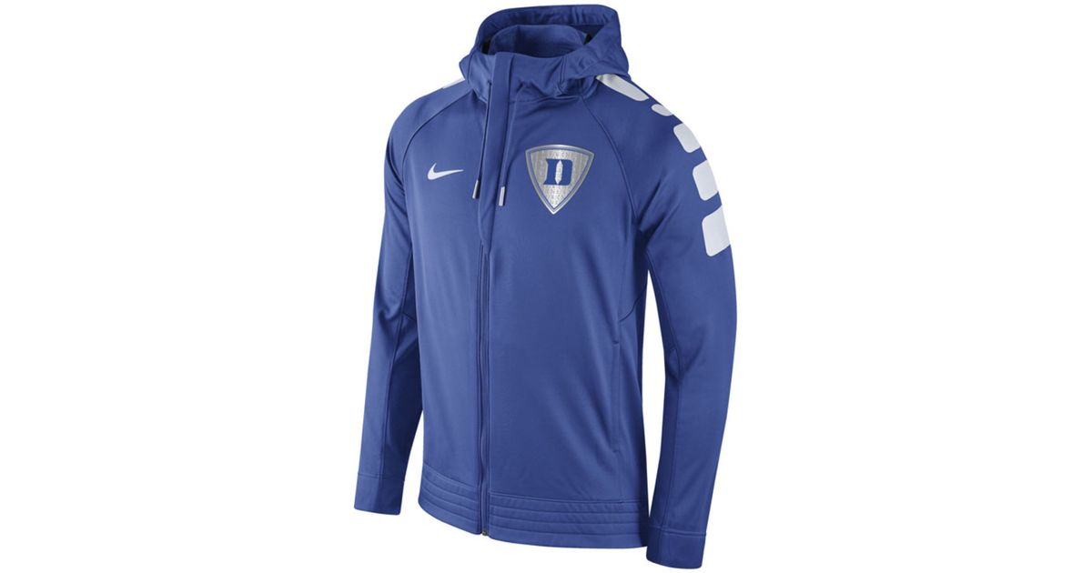 Lyst - Nike Men s Duke Blue Devils Elite Stripe Basketball Performance  Full-zip Hoodie in Blue for Men 4bf5f7264