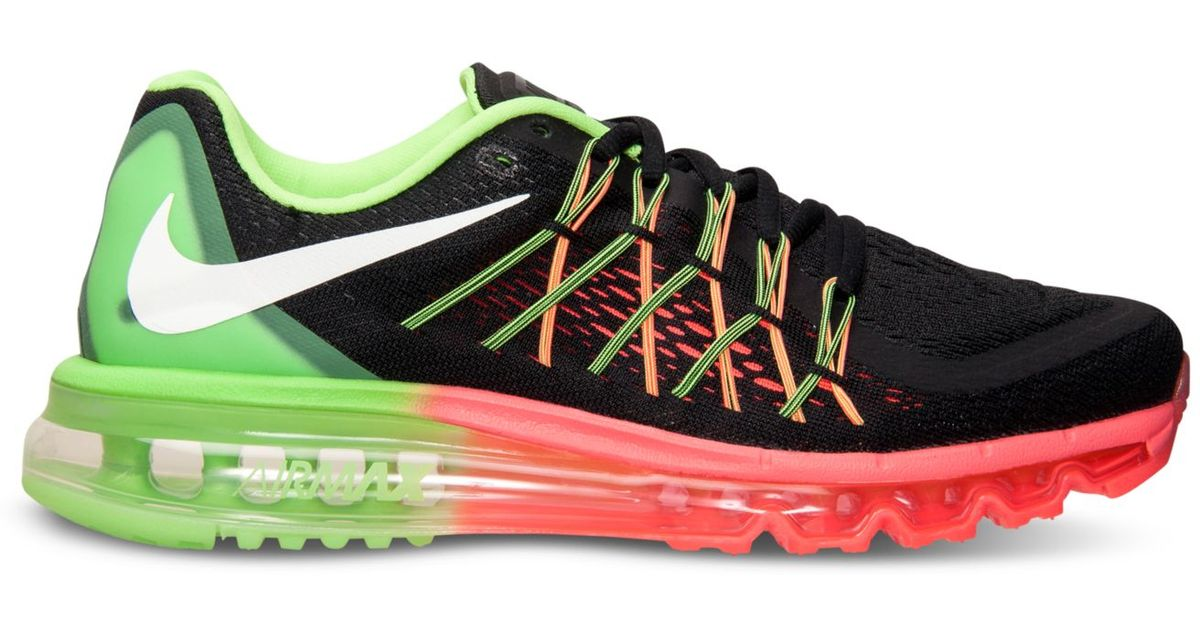 online retailer ef7a8 11955 Lyst - Nike Women S Air Max 2015 Running Sneakers From Finish Line in Black
