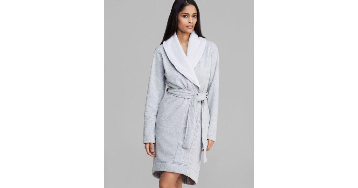 Lyst - UGG Ugg® Australia Robe - Blanche Shawl Collar in Gray ed5af2969