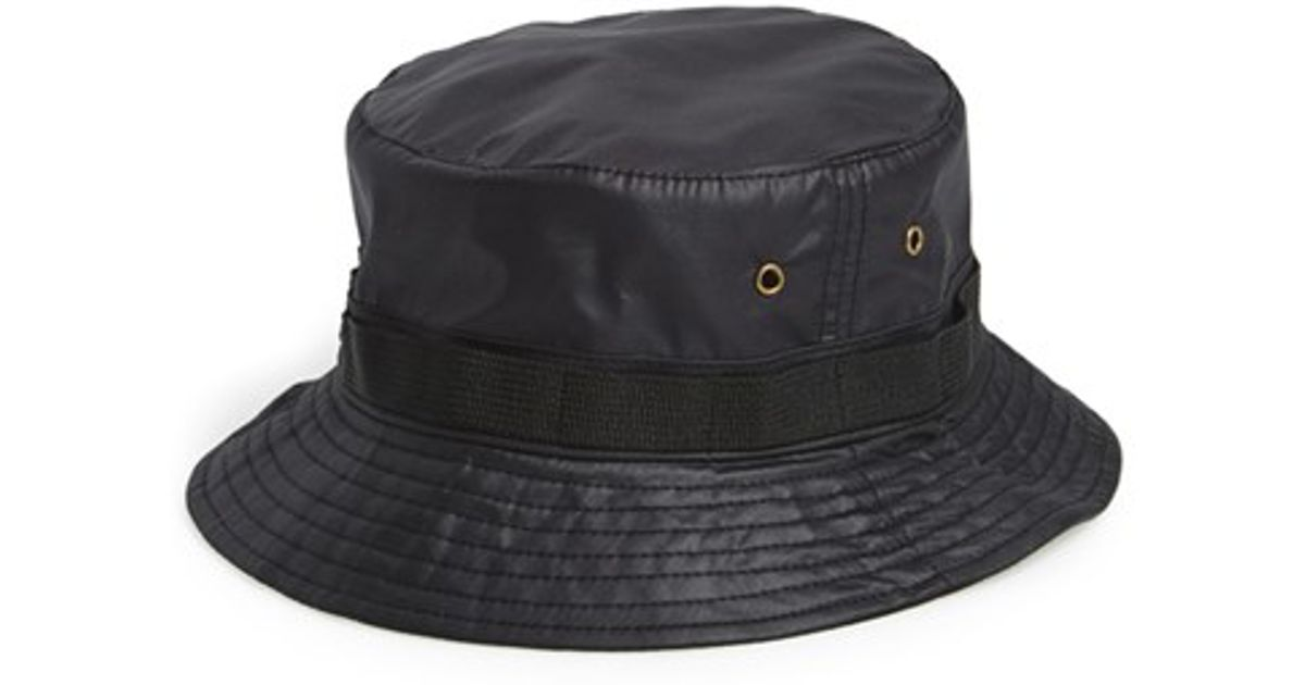 2449f4953 TOPMAN - Black Bucket Hat for Men - Lyst