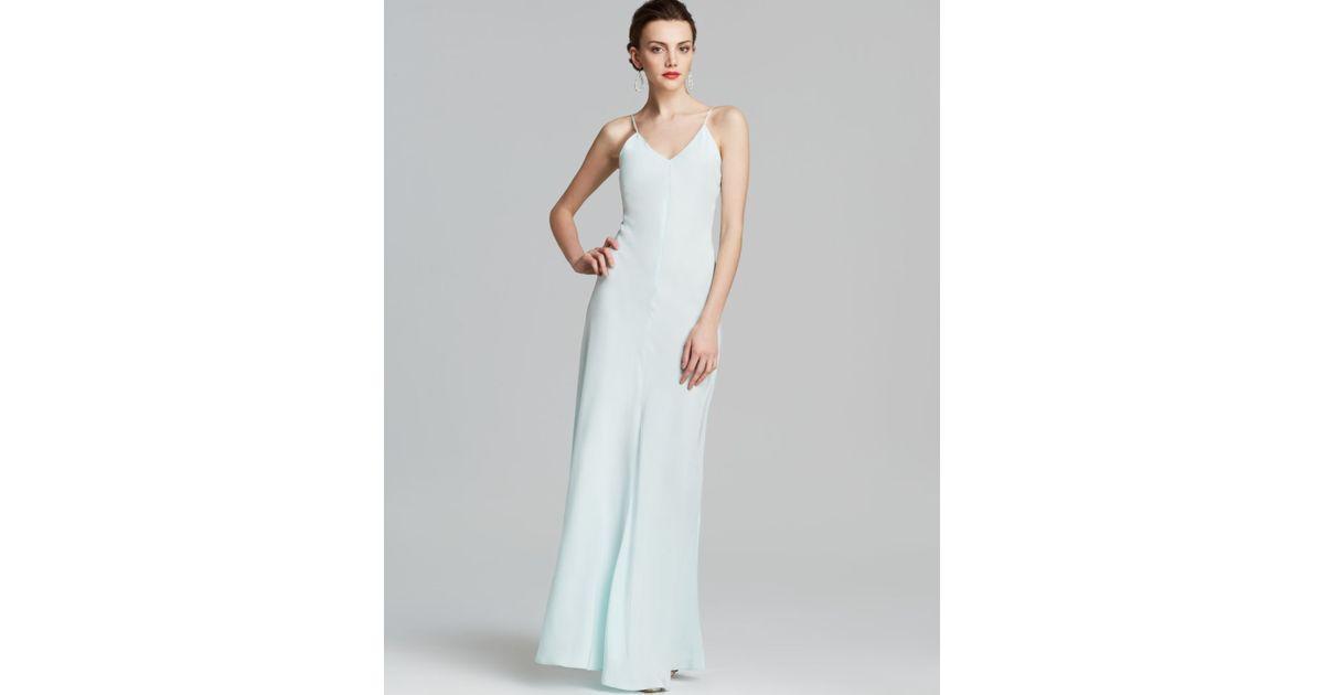 Lyst - Amanda Uprichard Maxi Dress - Silk in Blue
