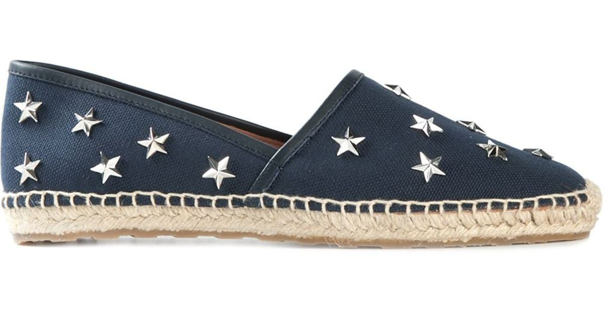 285e73988 RED Valentino Star Studded Espadrilles in Blue - Lyst