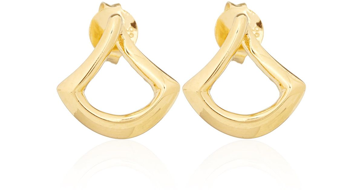 Dinny Hall Trapeze Twist Stud Earrings t5d6KCNqsE