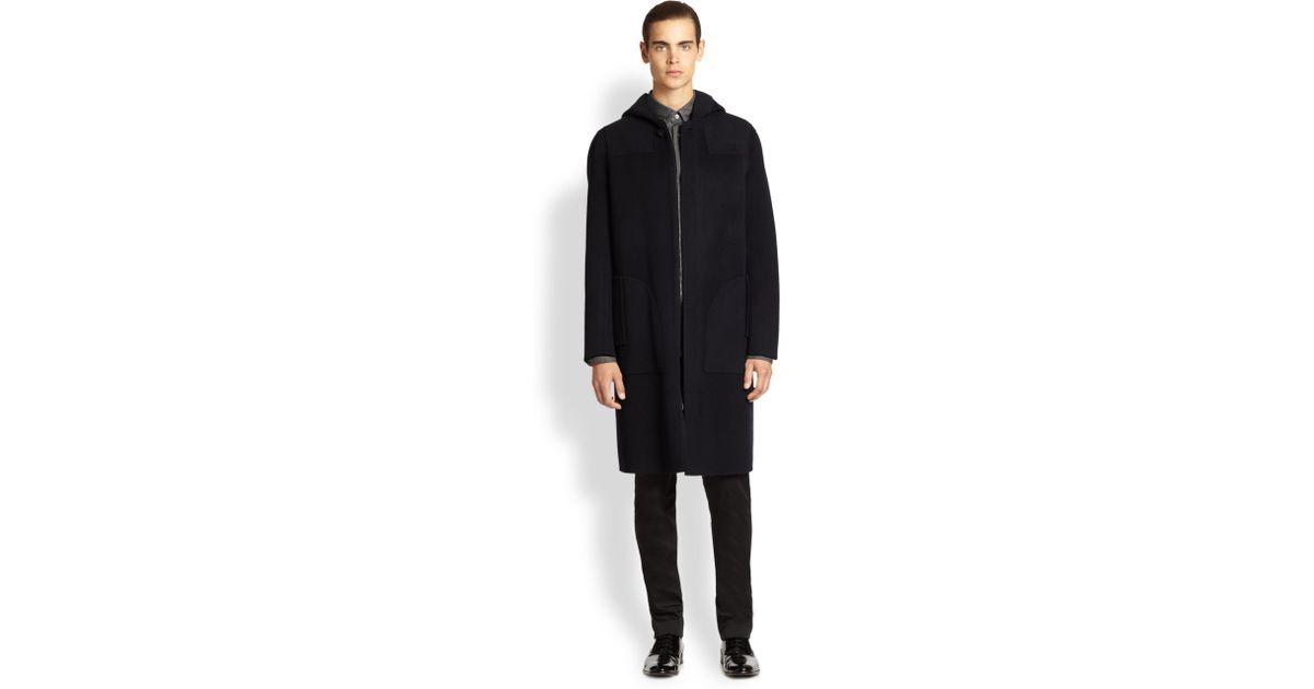 Acne studios Elony Woolcashmere Car Coat in Black for Men | Lyst