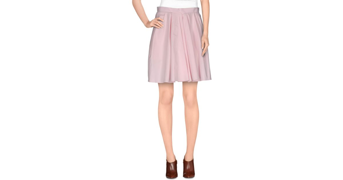 carven knee length skirt in pink lyst