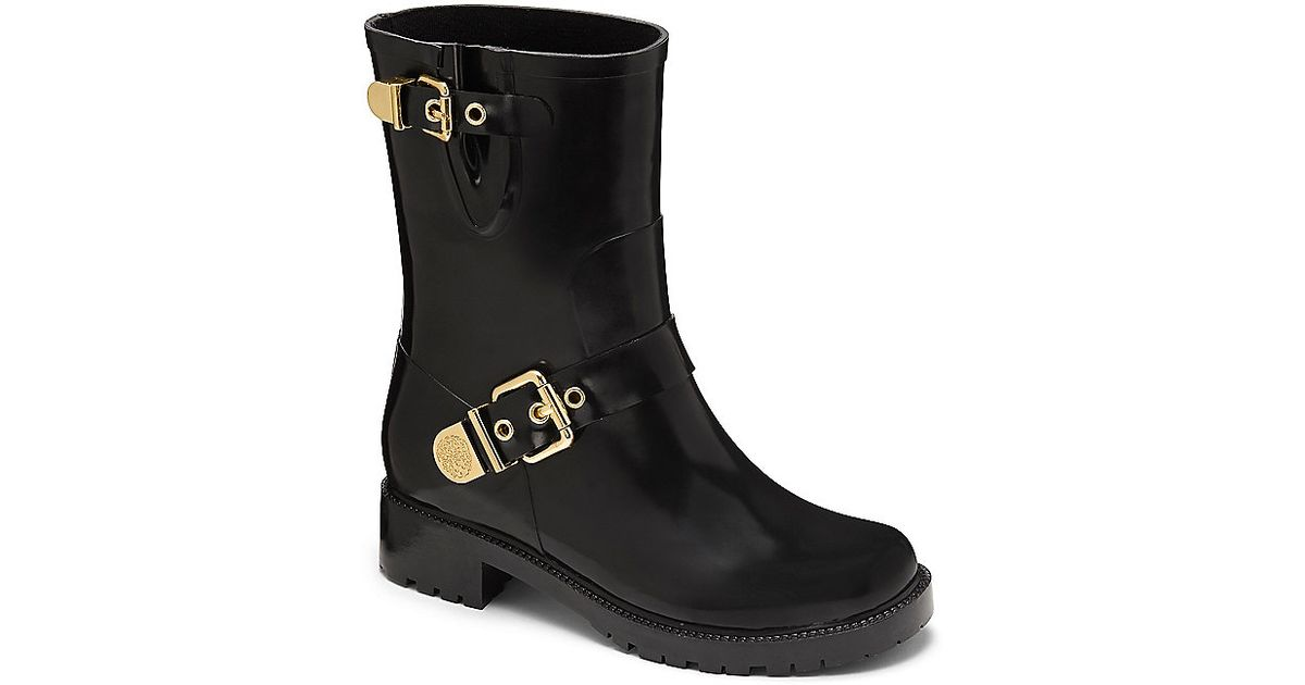 00096ca74b10 Lyst - Vince Camuto Hinch- Double-buckle Rain Boot in Black