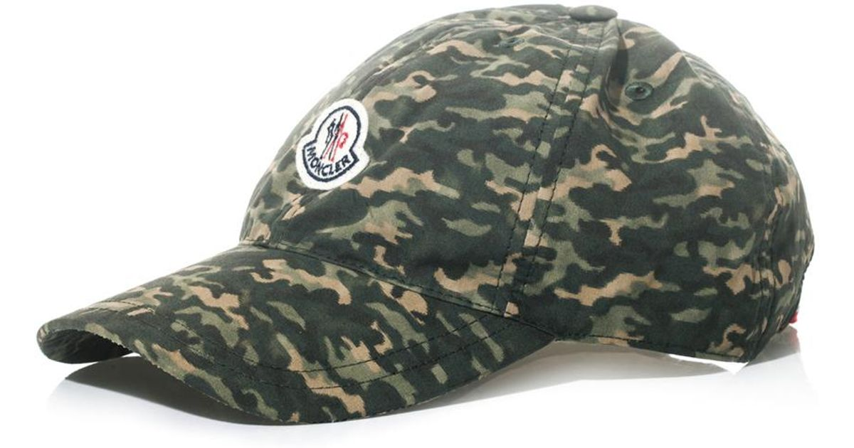 be682349338 Moncler Camouflageprint Cap in Green for Men