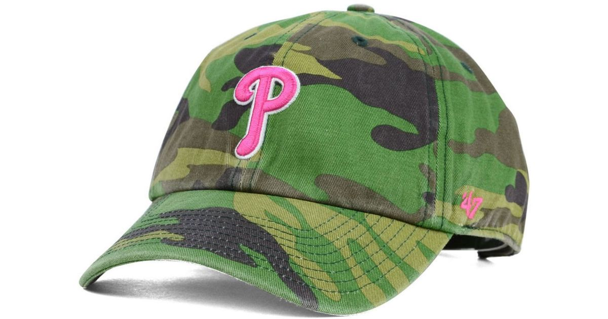 official photos 406c5 54a26 47 Brand Women s Philadelphia Phillies Clean Up Cap in Green - Lyst
