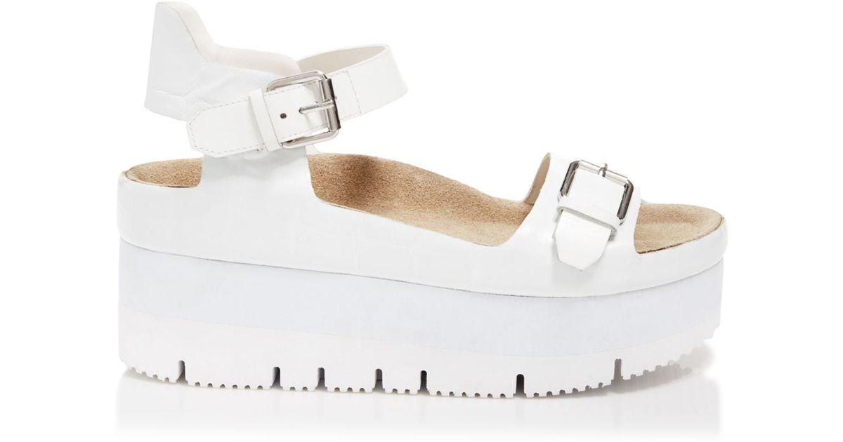 d2481bc001cf88 Ash Platform Lug Sole Sandals - Vera Flatform in White - Lyst