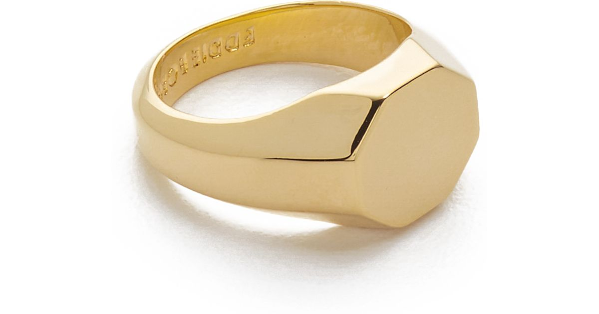 Ed borgo Signet Pinky Ring in Gold for Men