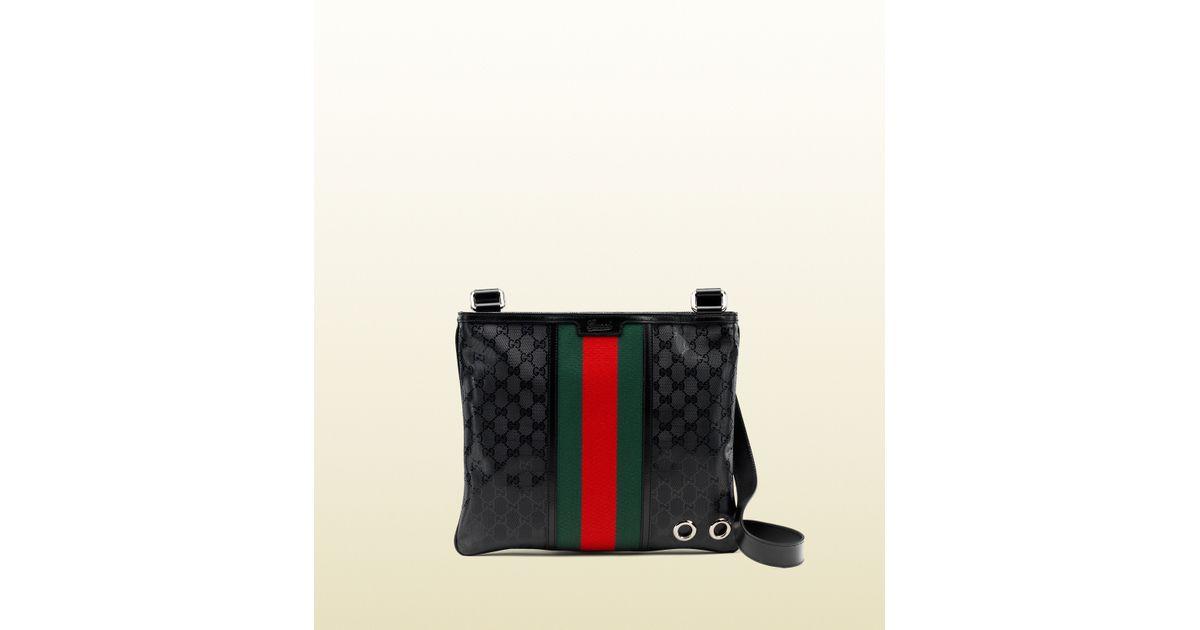 d58fb362a56c Gucci 500 By Gg Imprimé Messenger Bag in Black for Men - Lyst