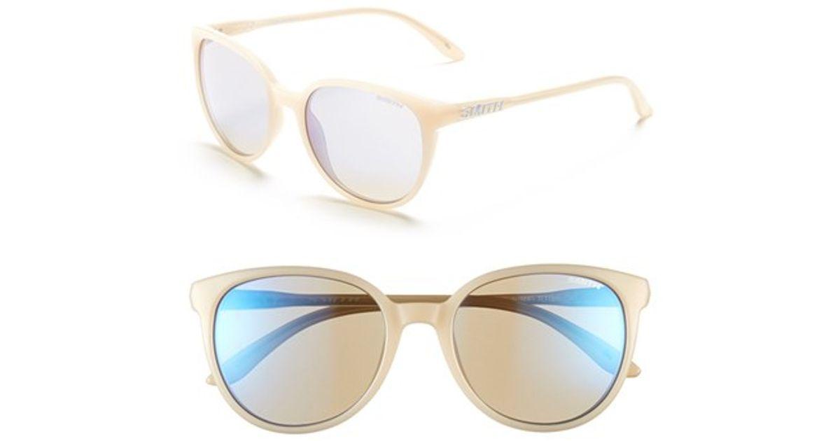 13f227985d4 Lyst - Smith Optics  cheetah  53mm Sunglasses - Nude  Blue Flash Mirror in  Natural