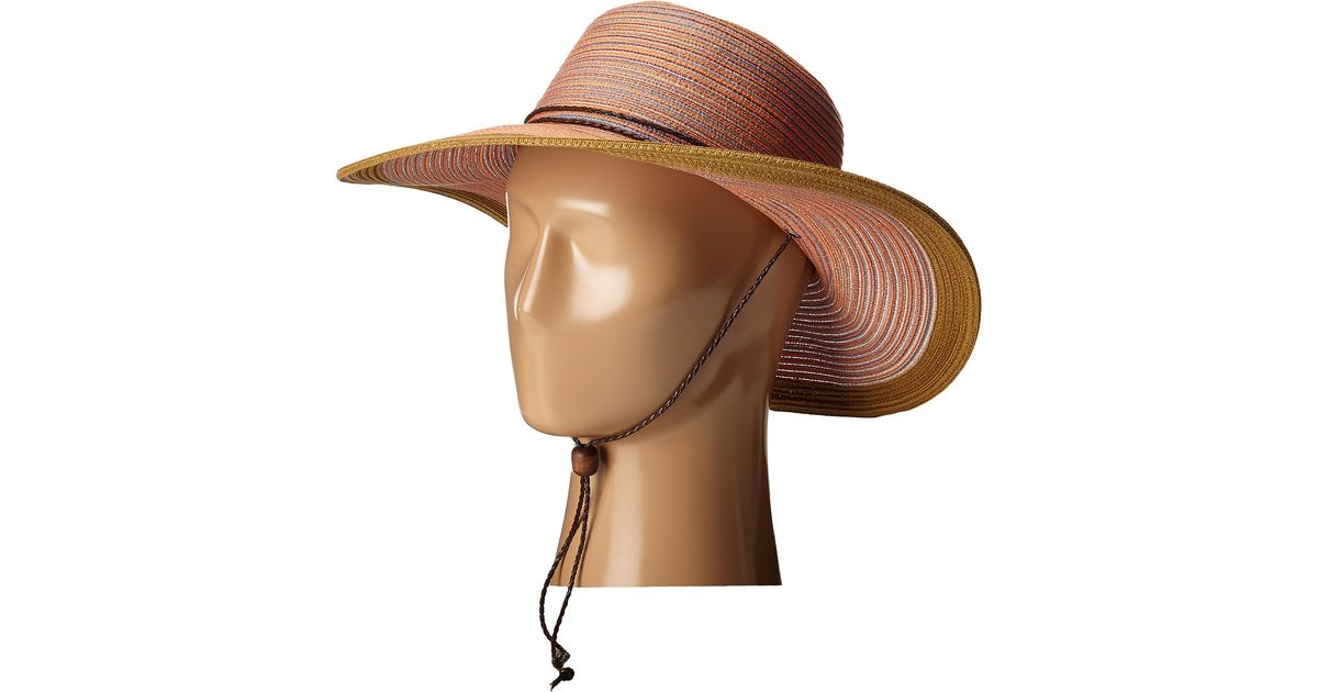 9f5ebd0668b Lyst - San Diego Hat Company Mxm1022 4 Inch Brim Sun Hat With Adjustable  Chin Cord in Orange