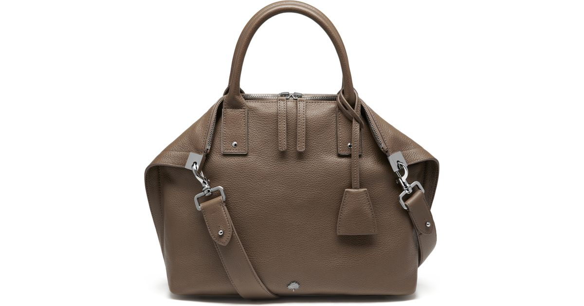 aef6ebbc9f ... sale lyst mulberry small alice zipped tote in brown 72db0 45572
