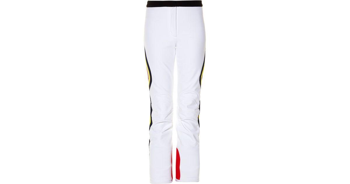be50691a0582c0 Fendi Side-striped Ski Trousers in White - Lyst