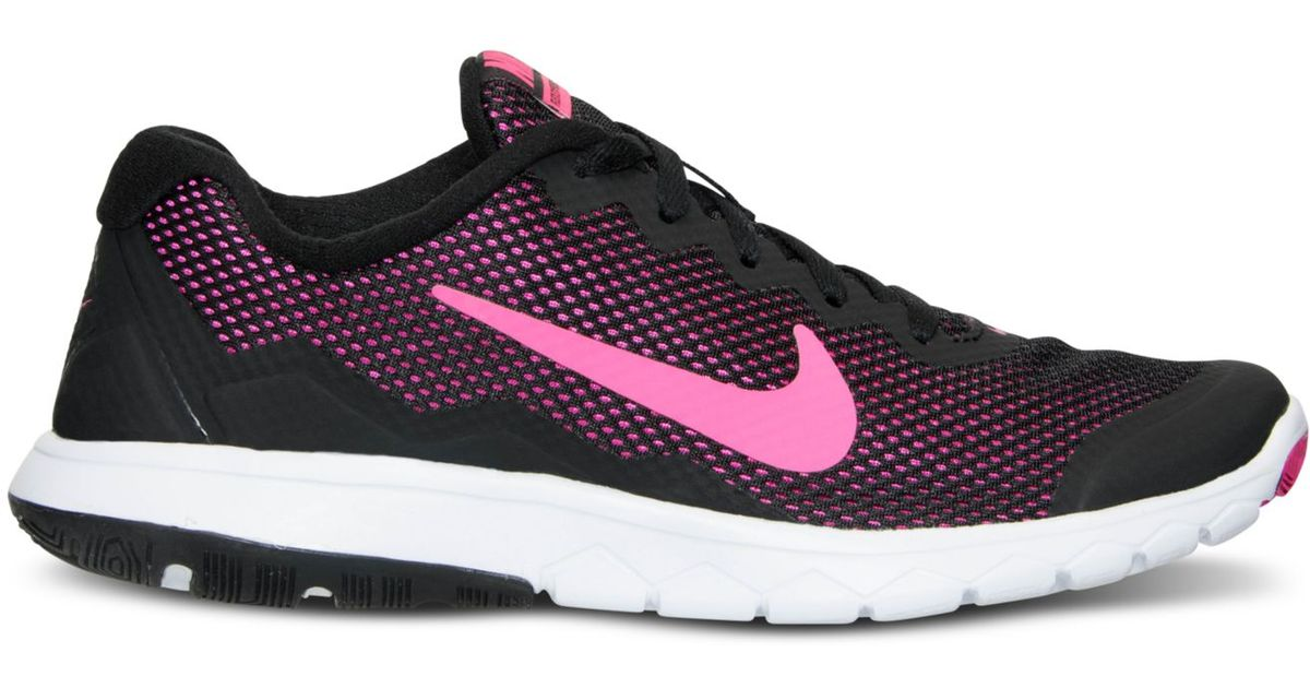 777b5065ba59d Lyst - Nike Women s Flex Experience Run 4 Running Sneakers From Finish Line  in Black